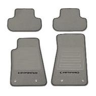 Floor Mats - Front and Rear Premium All Weather - Premium Carpet - Titanium Carpet, Black Camaro Logo, Black Edging