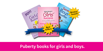 Puberty books for girls and boys
