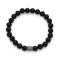 Black Onyx Mala Bead Bracelet