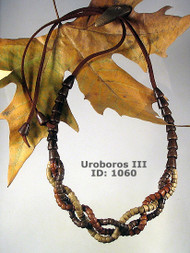 Uroboros (III) Wooden Necklace