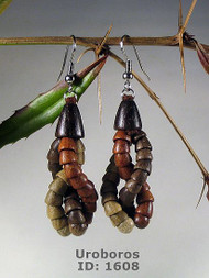 Uroboros Wooden Earrings
