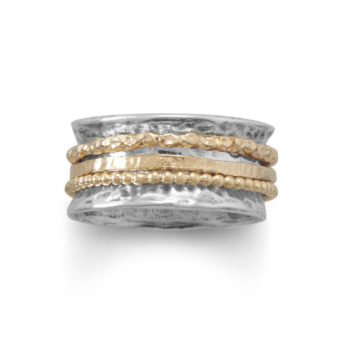Oxidized Two Tone Multi-Band Spin Ring