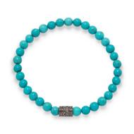 Blue Magnesite Mala Bead Bracelet