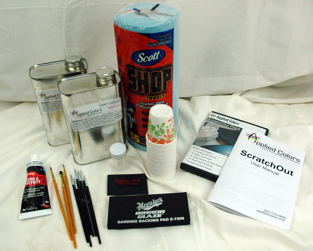 scratch and chip repair tools