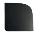 COAA Homepad Cover - Black Matte Linear - Case 12pcs