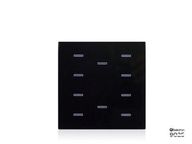9025 Standard 10 Buttons Switch Black