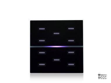9025 10-Button RGB Switch Black