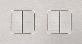 LARA CARRE - 2/4 + 2/4 PUSH-BUTTONS KNX WITH LEDS