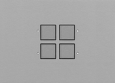 LOLA BANDE - 4 PUSH-BUTTONS KNX WITH LEDS