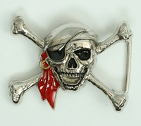 Pirate red scarf small buckle