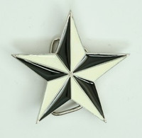 Star black-white small buckle