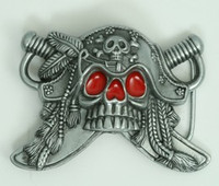 Pirate red eye small buckle