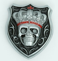 Skull crown small buckle