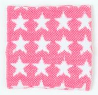 Stars pink-white sweat band accessory