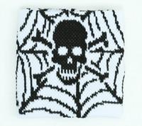 Spiderweb white sweat band accessory