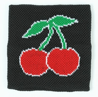 Cherry black sweat band accessory
