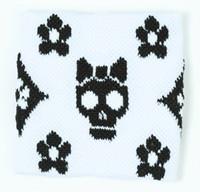 Cute Sk flower white-black sweat band accessory