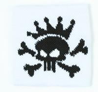 Punk Sk white sweat band accessory
