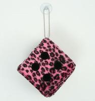 1 Dice leopard pink / black 1 dice car accessory