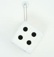Dice white / black 1 dice car accessory