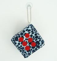 1 Dice leopard blue / red 1 dice car accessory