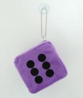 1 Dice D-purple / black 1 dice car accessory