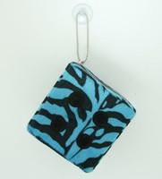 1 Dice zebra blue-black / black 1 dice car accessory