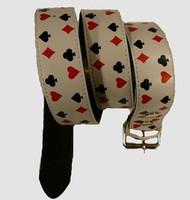 Poker S white mix belt