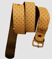 Dot white-pink mix belt