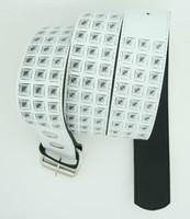 Studs print white mix belt