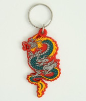 Dragon red-yellow-blue colorful key ring