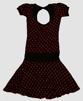 OIB skull black-red fashion dress