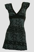 Front - Punk flower black-grey fashion dress