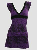 Front - Punk flower purple fashion dress