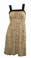 Front - TE leopard brown fashion dress