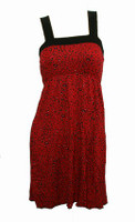 Front - TE leopard red fashion dress