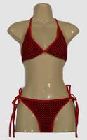 Check black-red bikini lady