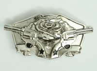 Guns rose silver medium buckle