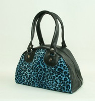 Leopard blue small bowling bag