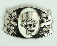 Skull Hhat black-white extra big buckle