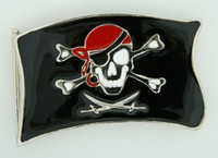 Pirate flag extra big buckle