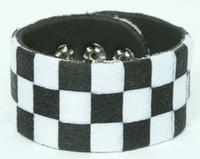 Check black-white F big stripes & checker