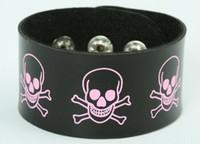 Skull happy black-pink big stripes & checker