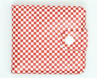 Check red-white wallet PVC wallet