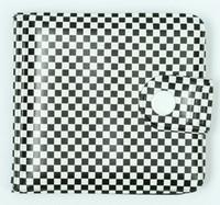 Check black-white wallet PVC wallet