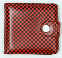 Check red-black wallet PVC wallet