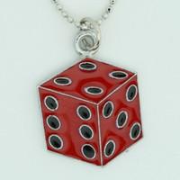 Dice PE red mix necklace