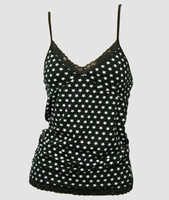 Front - Star basic black-white top lace top