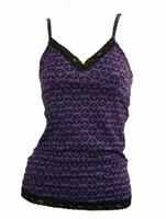 Front - L grafic purple top lace top
