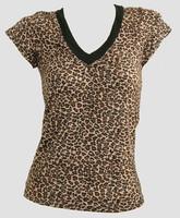 Front - Leopard brown fashion t-shirt